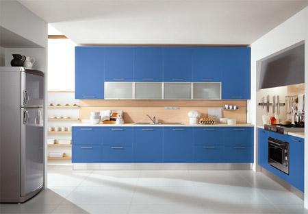 باللون الازرق 2012 المطابخ باللون السحري الأزرق