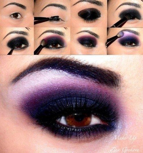 آموزش سایه زدن چشم با تصویر