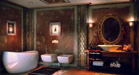 ديكورات حمامات مميزة 2013 افكار