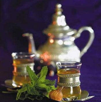 الشاي الأخضر بالنعناع وصفة الشاي