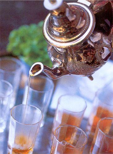الشاي المغربي خطوات الشاي المغربي