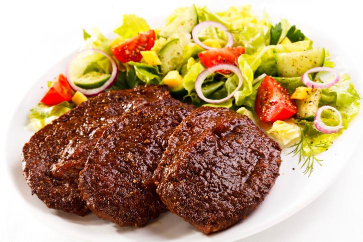 شرائح اللحم بالخضراوات والزنجبيل2013