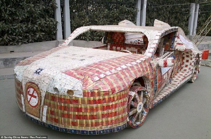 سيارة مصنوعه من علب التبغ ، صور اغرب سياره في العالم 2013 121116231544bIwL.jpg